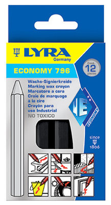 Lyra 796 zwart Economy vetkrijt